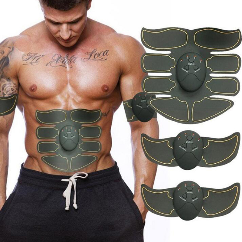 New Smart EMS Electric Pulse Treatment Massager Abdominal Muscle Trainer Wireless Sports Muscle Fitness 8 Packs Body Massager