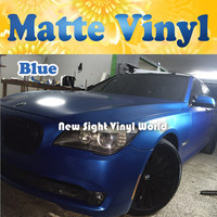 FedEx FREE SHIPPING High Quality Matte Electric Blue Vinyl With Air Free Bubble For Vehicle Wraps