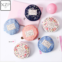 XZP Coin Purse Women Fresh Floral Coin Wallet Zipper Bag Change Pouch Key Holder Small Mini Storage Case Pouch Money Bags Gift etya women coin purse cartoon cute headset bag small change purse wallet pouch bag for kids gift mini zipper coin storage bag