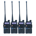 4 unids/lote BAOFENG UV-5R Walkie Talkie de Radio Portátil de Doble Banda VHF/UHF 136-174/400-480 MHz Transceptor Radio de dos Vías
