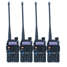 4 pcs/lot BAOFENG UV-5R Talkie Walkie Portable Radio Double Bande VHF/UHF 136-174/400-480 MHz Émetteur-Récepteur Two Way Radio