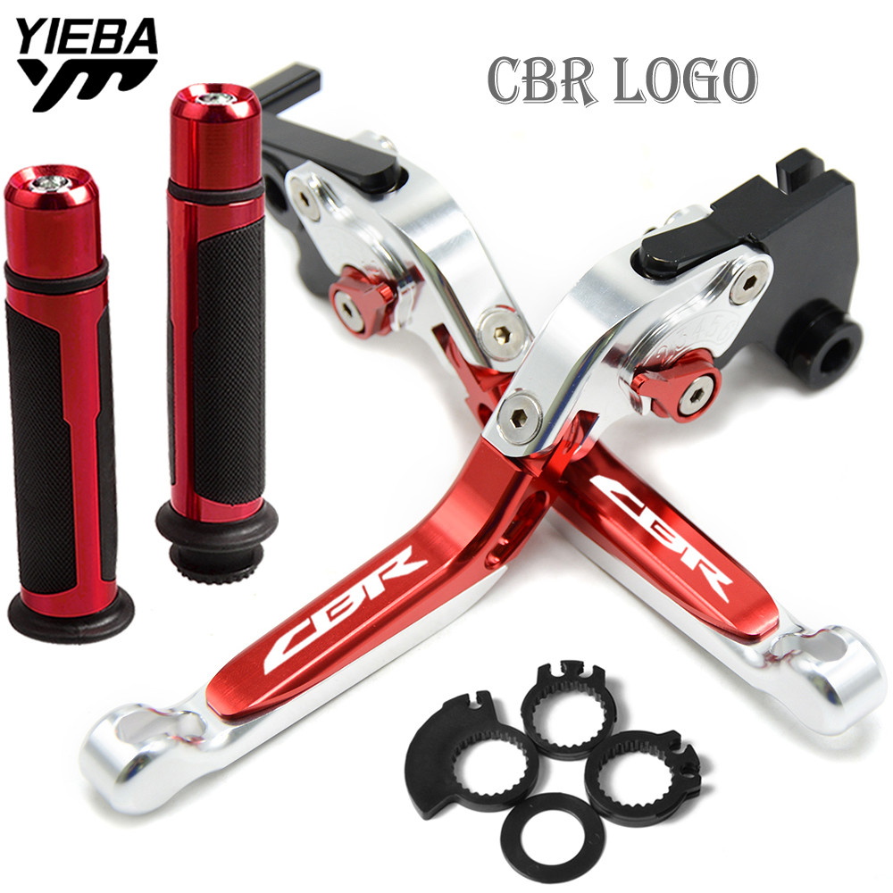 NEW Motorcycle Folding Brake Clutch Levers Handlebar handle grips FOR HONDA CBR954RR CBR 954 RR 2002 2003 motorbike Accessories