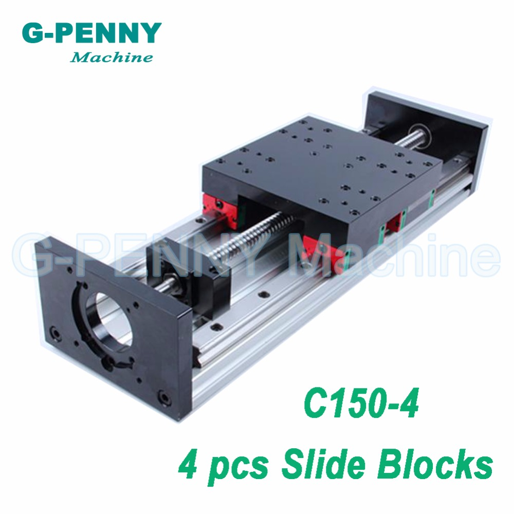 CNC Z Axis Slide Table HG20 Linear Guide Rail Slidling Table With Ball Screw 1605 Or 1610 Moving Table For X Axis Y Axis Motion