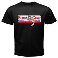 Bubba Gump Forest Shrimp Seafood Co Eighties T Shirt Black Basic Tee