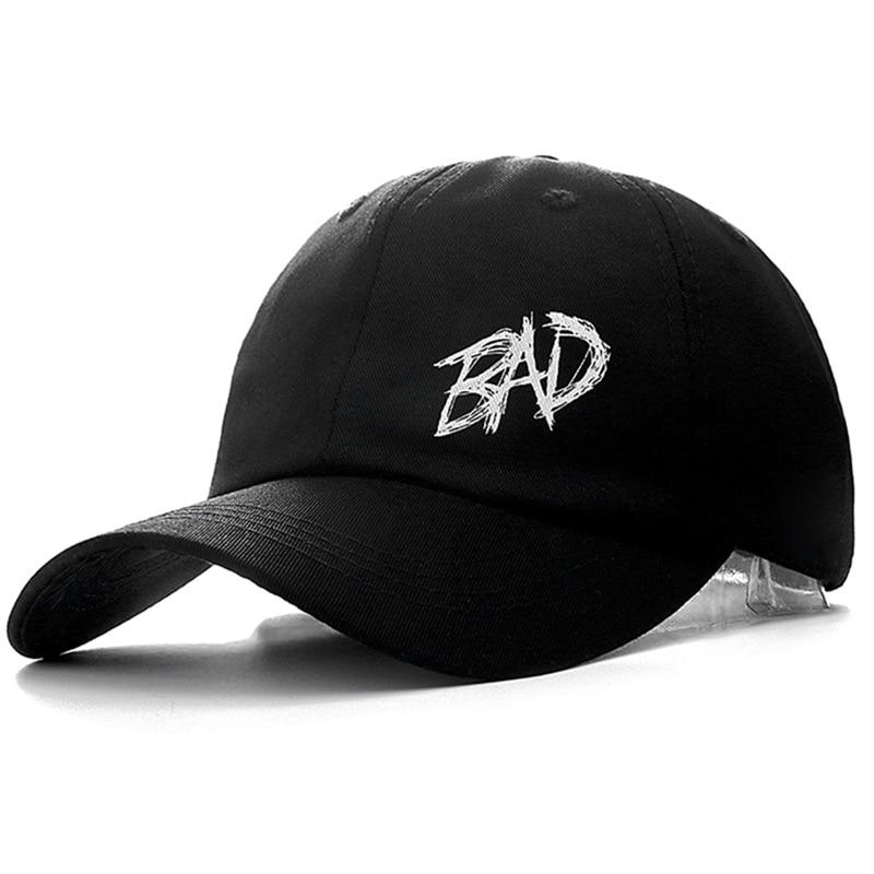 9d7815cd2d5 Dropshipping XXXTENTACION BAD Cap Cotton Baseball Cap For Men Women  Adjustable Hip Hop Dad Hat Bone