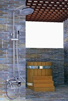 Hello Shower Set Torneira Wall Mounted 8 Plastic Shower Head Bathroom Rainfall 53002 1 Bathtub Chrome