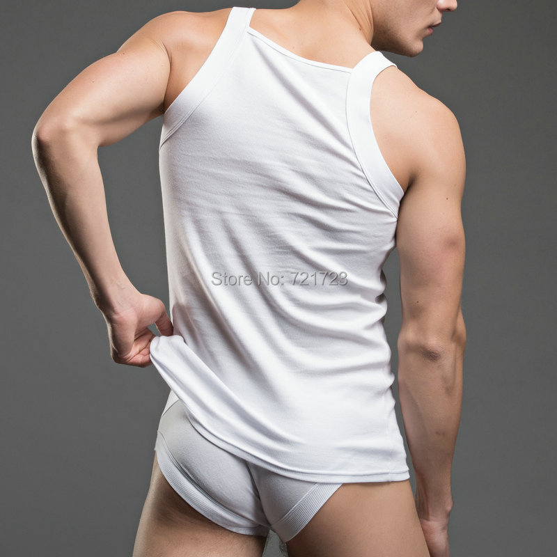61270be2125dc6 Men s G UNIT Square Cut Ribbed Tank Top Undershirt Underwear gift Briefs  Pajama Sets White XL L M-in Men s Pajama Sets from Underwear   Sleepwears  on ...