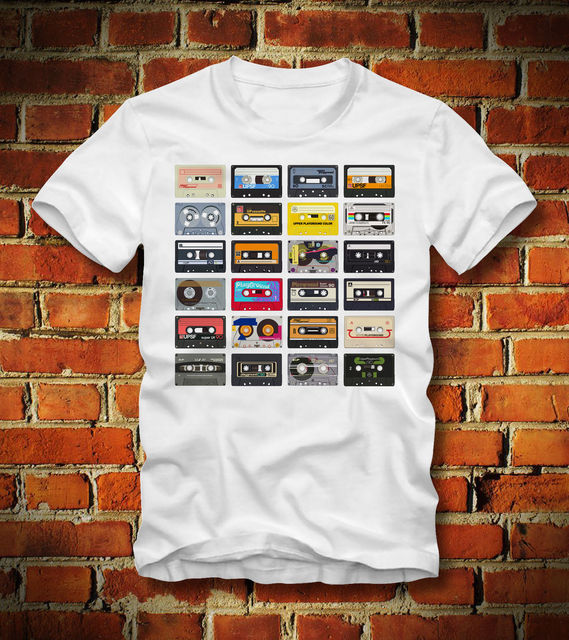 BOARDRIPPAZ T SHIRT 80er 80s RETRO CASSETTE TAPES KASSETTE VINTAGE  OLDSCHOOL VHS Tee Shirt Mens 2018 New Tee Shirts Printing-in T-Shirts from  Men's