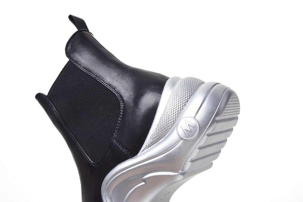Krazing Pentola 2019 pieno fiore stivali di pelle di marca di stile occidentale design slip on di colore solido superstar tenere al caldo della caviglia stivali l1f2-in Stivaletti da Scarpe su  Gruppo 2