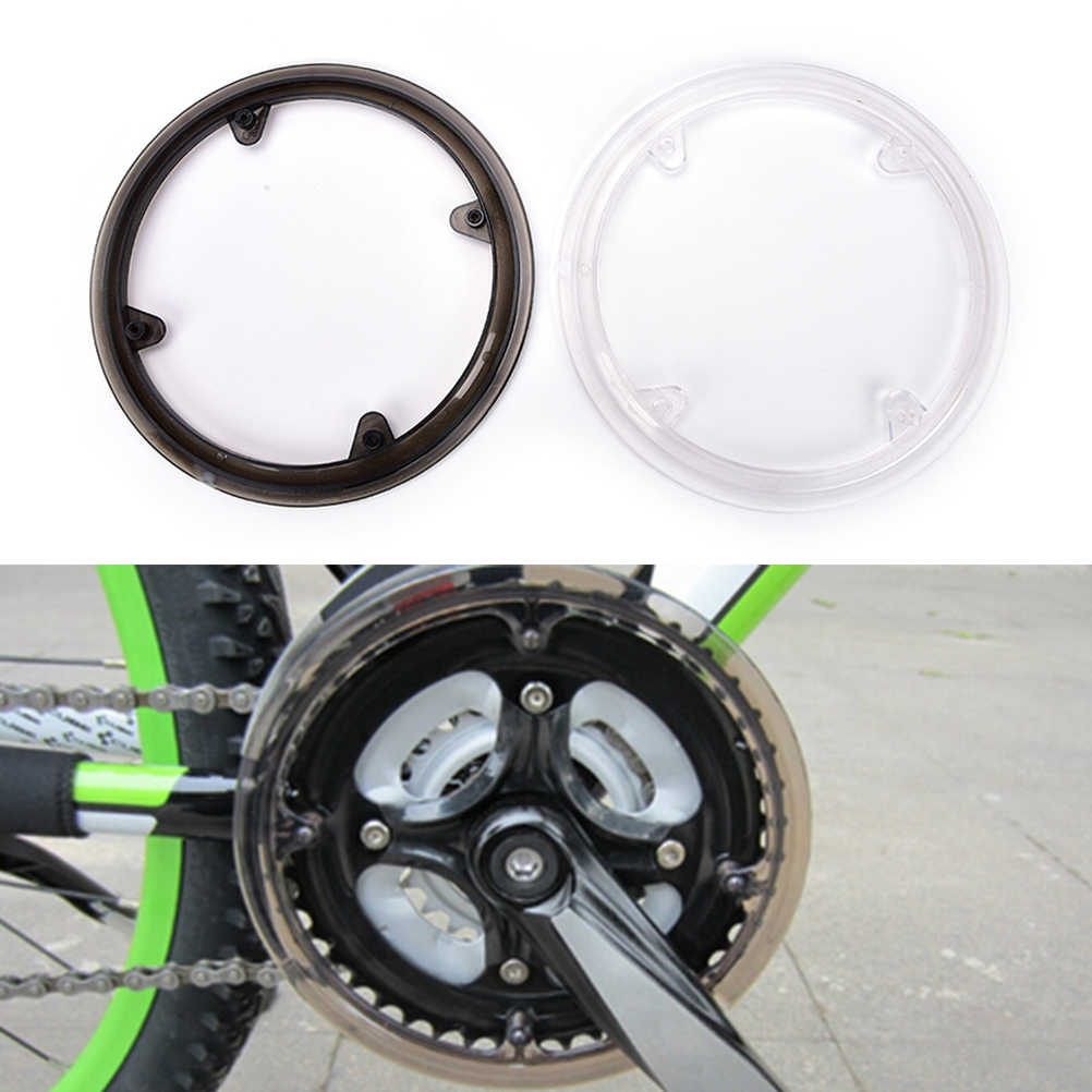 MTB white and black Bike Bicycle Cycling universe Crankset protect Cover support cap bike Chainring Crank chain wheel guard
