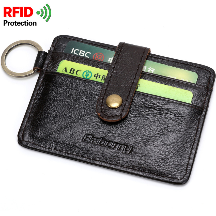 RFID Block Cow Leather Travel Short Wallet Male Small Bag Money Note Card Photo Passport Holder Coin Pocket Thin Purse Slim W19 ...