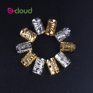 Image 3 - Wholesale 500Pcs 1000pcs/Pack Hair Styling Tools Dreadlock Hair Beads Adjustable Hair Cuff Clips 10mm Hole For Micro Hair Rings