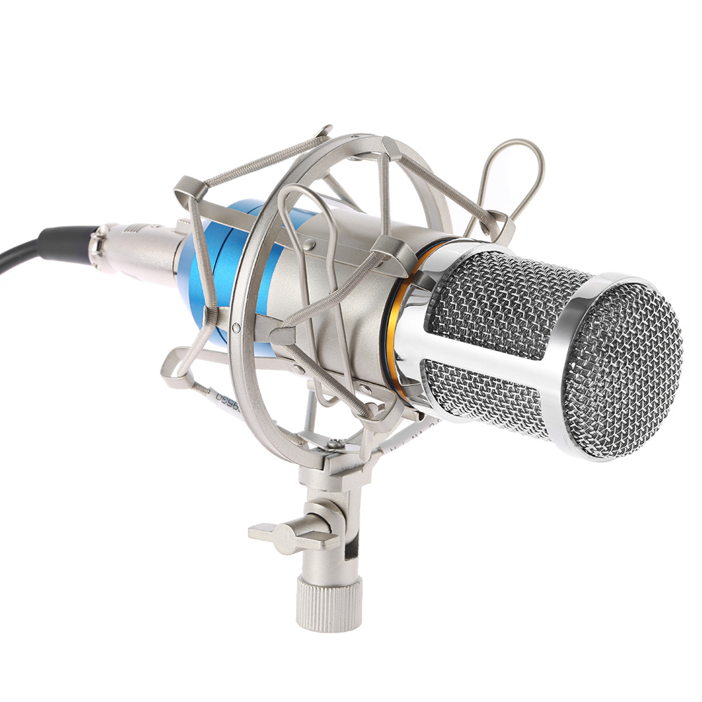 high quality microphone broadcasting studio recording condenser microphone mic with shock mount. Black Bedroom Furniture Sets. Home Design Ideas