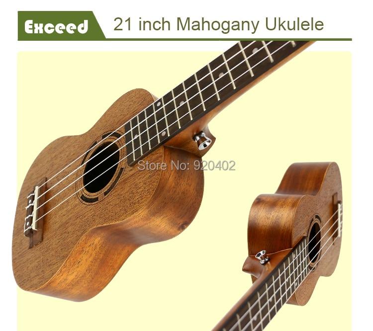 21 zoll Mahagoni Ukulele Akustische Gitarre Sopran Hawaii Ukelele - Musikinstrumente - Foto 5