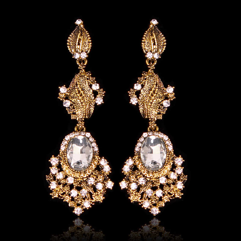 cf8bf7c55 Trend Indian Bridal Earrings Statement Long Dangle Drop Antique Vintage  Earrings Retro Party Jewelry Gift for