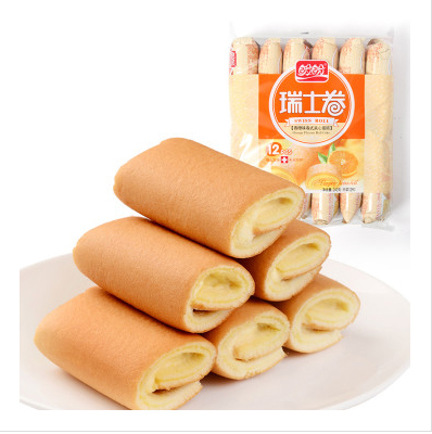 Cake orange flavor  240gram 1 bag  Snack Food Chinese food chinese food 520grams 1 bag food snack rice cake