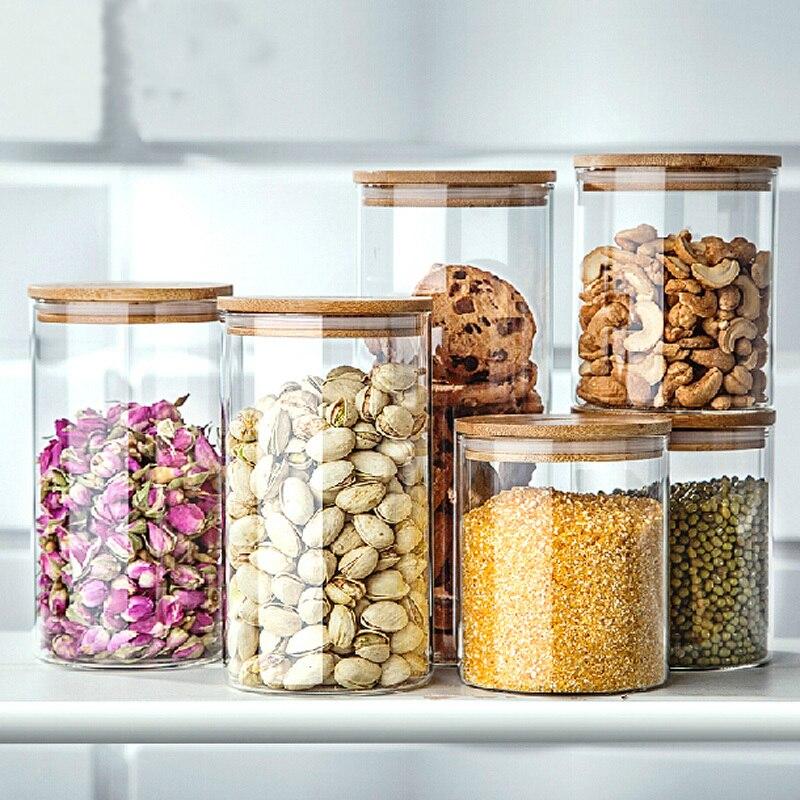transparent coffee bean glass jar large dried fruit food storage box sealed box storage tank. Black Bedroom Furniture Sets. Home Design Ideas