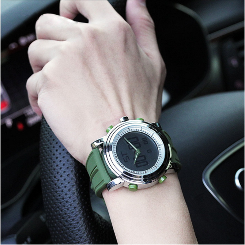 SINOBI Waterproof Wristwatches Top-Brand Men Fashion LED Digital for Relogio Masculino
