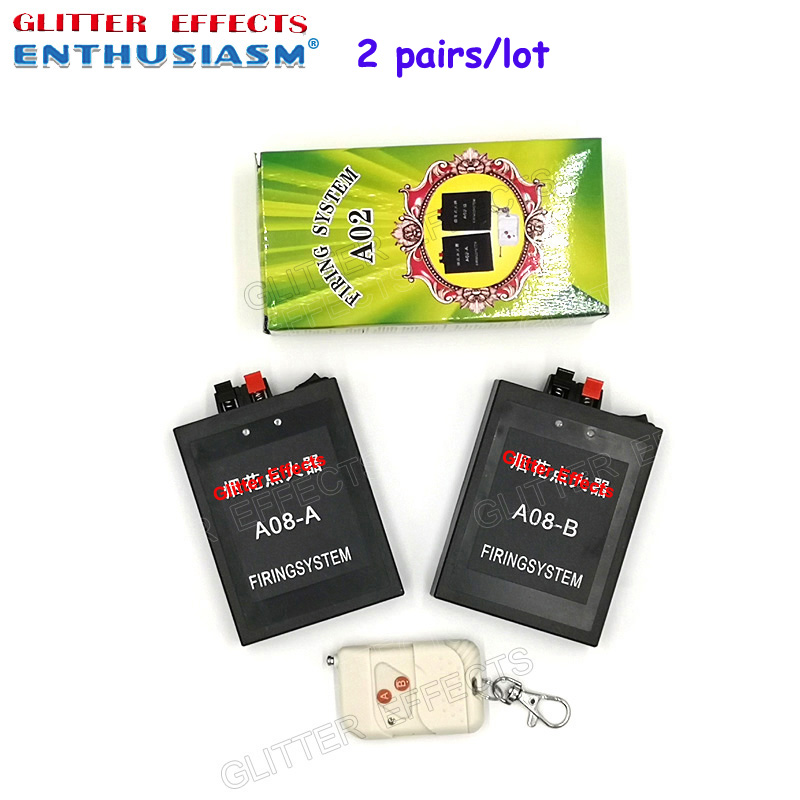2 pairs lot A02 2 channel receiver remote control wedding machine