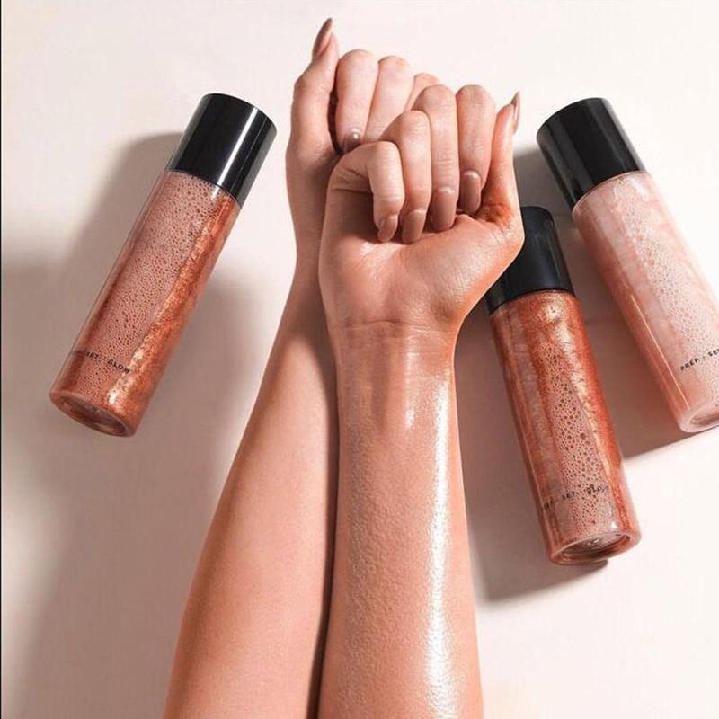 Highlighter Liquid Setting Spray Illuminating Face Shimmer Long-lasting Brighten Glow Face Bright Gold Shimmer Makeup Spray