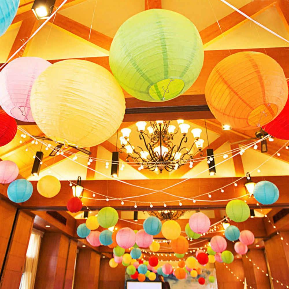 1 pc 7 tamanho (4-16 polegada) branco Lanterna De Papel Chinesa Decorativa Lampião Papel Bola Wedding Party Festival Decoração lanternas desejo