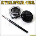 12 Pcs/set Black Waterproof Eye Liner Gel Makeup Brush Cosmetics Set Eye Liner Makeup Eye Shadow Gel Free Shipping y