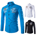 2015 New Original Brand Fashion 5 color Mens Dress Shirts Long sleeve Slim Fit Casual Social Camisas Masculinas M-XXL