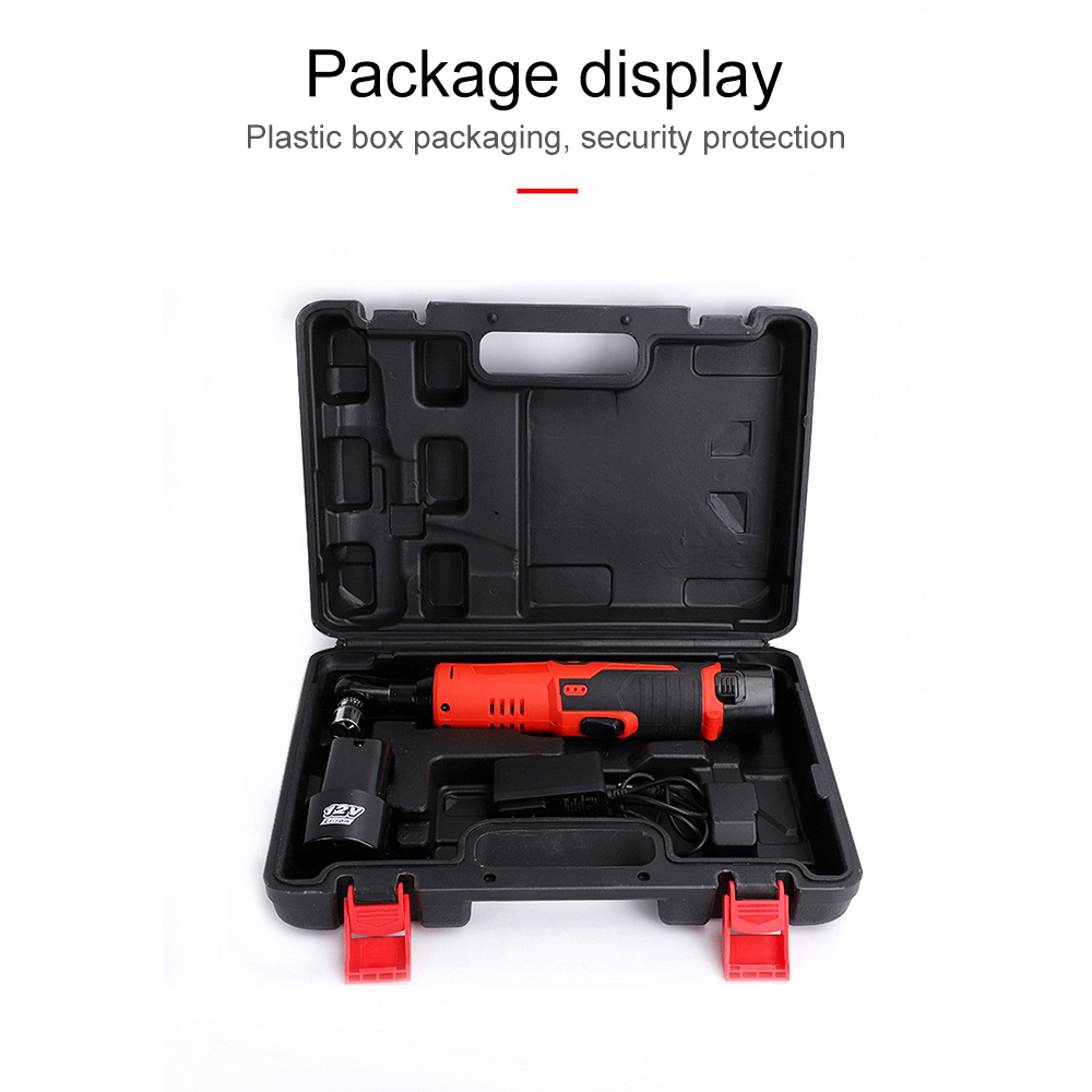 12V Cordless Impact Wrench Rechargeable Electric Ratchet Wrench Lithium Ion Battery Led Working Light Electric Wrench Power Tool in Electric Wrenches from Tools