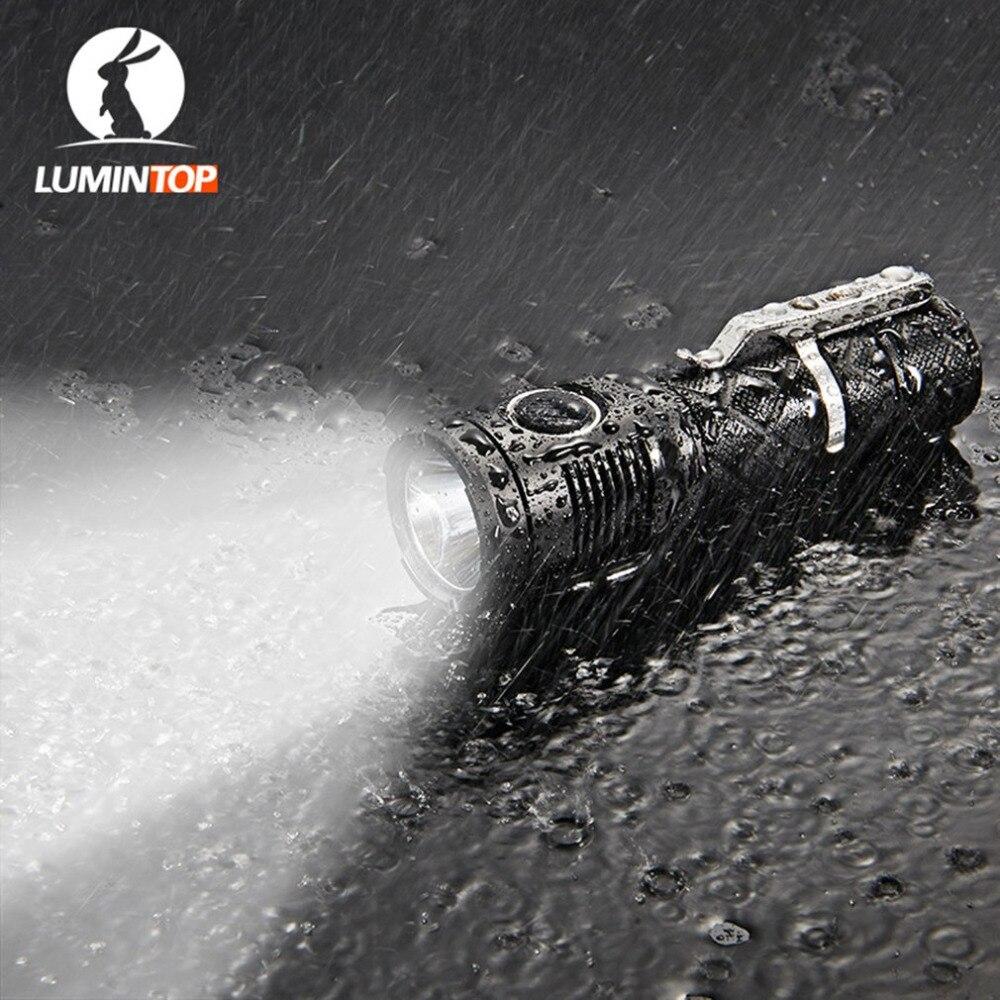 LUMINTOP SDMINI Max Output of 920 Lumens Micro-USB Interface Rechargeable Tactical Flashlight Cree XP-L HI LED lumintop 920 lumen flashlight sd4a searching light cree xp l hi powerful led flashlight max beam 285 meters 8 modes
