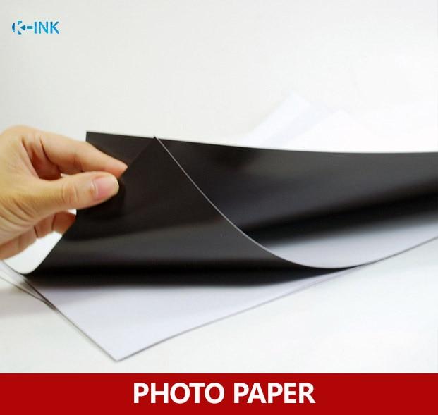 A4 Size Magnetic Photo Paper , Matt Inkjet Magnetic Paper 5pcs / Lot