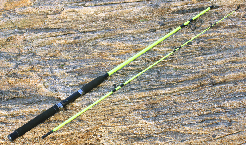 Free shipping 2.1m/7ft Fiberglass Fishing Rod In 2 Sections; Nero Yellow Bright Color; Cheap Selling tonelli 2169 nero m