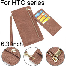 Case For HTC One M8 M9 M10 Zipper Wallet Hand Pouch Leather For HTC Desire 601 500 626 820 310 Phone cover Within 6.3 Inch below