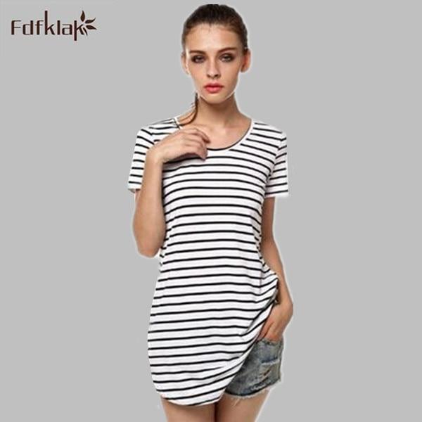 19861c207aed Moda Verão vestido de noite das mulheres vestido listrado camisola feminina  vestidos curtos para as mulheres sleepshirt branco/preto sleepwear Q1001
