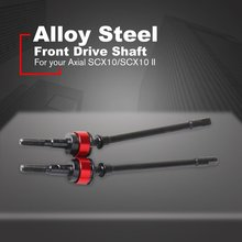 2PCS Hard Steel Front Axle CVD Drive Shaft for 1/10 Axial SCX10 Upgrade Option Parts Hop-Up 1 pair S87 цены онлайн
