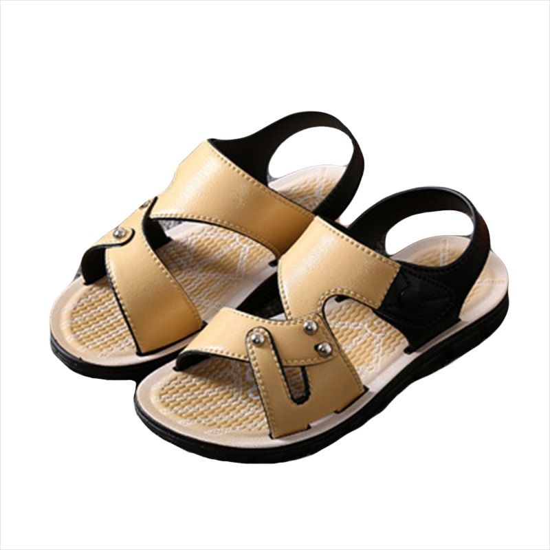 Toomine Sandal Shoes Brand New Breathable Children Sandals Summer Boys Casual PU Leather Sequins Buckle Kids Comfortable Single