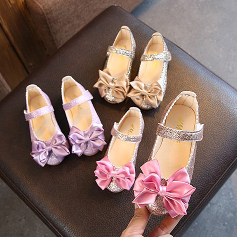 Spring Girls Shoes Dance Party Shoes For Kids Baby Princess Shoes Gold Big Girl Single Shoe 1-12 Years Old Child Pink MCH103