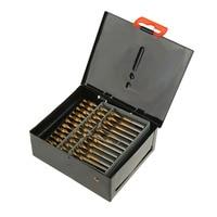 60PCS HSS Cobalt Twist Drill Bits For Hard Metal Stainless Steel Wood w/Box
