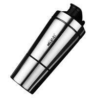 304 Aço Inoxidável 500 ml Proteína Misturador Liquidificador Agitação Copo Garrafa de Água Drinkware Esportes Fitness Gym Shaker Garrafa