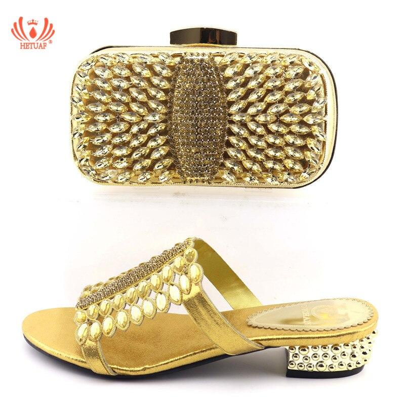 b95c10cf77bd1d Sac Or Avec Et Assortir Sandale or À 2019 Ensemble Main Chaussures  Conception Date Taille Italien ...