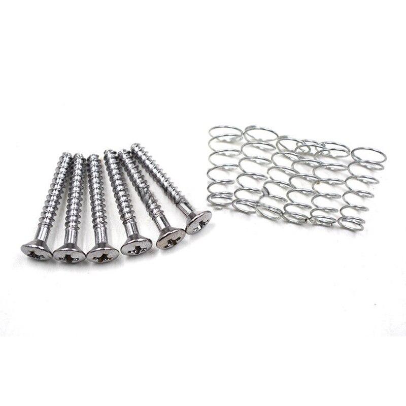 SEWS-50pcs Chrome Single Coil Pickup Screws & Adjust Height Springs For  Guitar niko 50pcs chrome single coil pickup screws