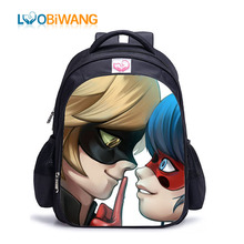 hot deal buy luobiwang children school bags miraculous ladybug school bags for boys backpacks cartoon infant backpack orthopedic schoolbags