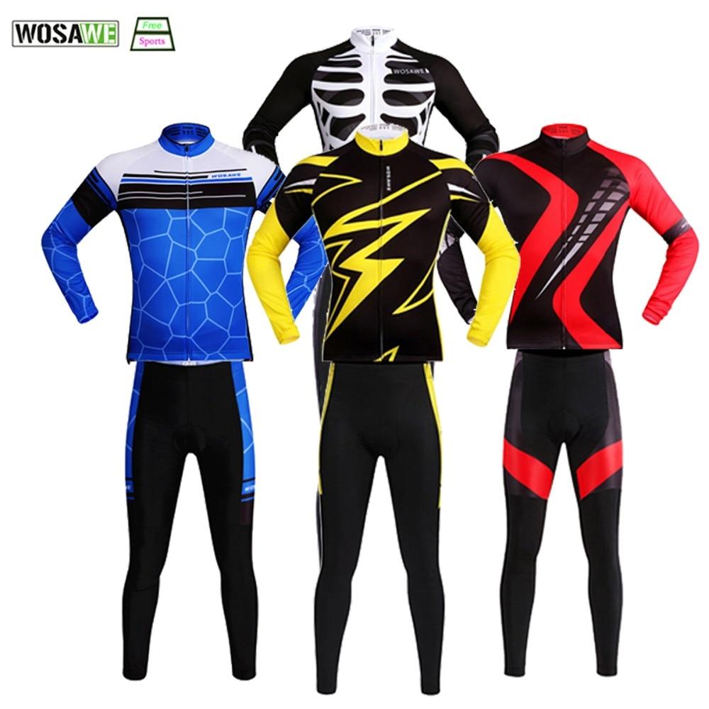 WOSAWE Ktm Cycling Jerseys Pants Summer Autumn MTB Mountain Bike Racing Pro Ciclismo Bicycle Clothing Quick-Dry Bike Jersey