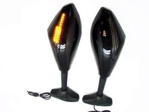 Motorcycle Carbon Integrated <font><b>LED</b></font> Turn Signal Side Rear view Mirrors For Honda CBR900RR 1993 &#8211; 2004 Honda <font><b>CBR600RR</b></font> 2003 &#8211; 2005 04
