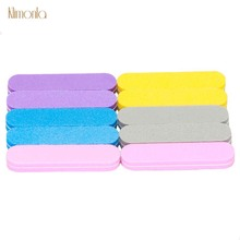 20pcs Colorful Sponge Nail Art Tools For 100/180 File Buffer Blocks Sandpaper UV Gel Polishing Files