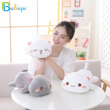 1pc 35/50cm Kawaii Lying Cat Plush Toys Stuffed Cute Emoji Cat Doll Lovely Animal Pillow Soft Cartoon Cushion Kid Christmas Gift
