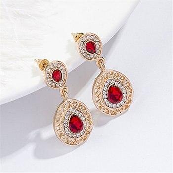 Luxury  Gold rhinestone crystal Jewelry Set 6