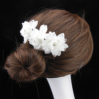 20 Pcs Grace Princess Bridal Flower Hair Comb Jewelry Crystal Wedding Hair Accessory