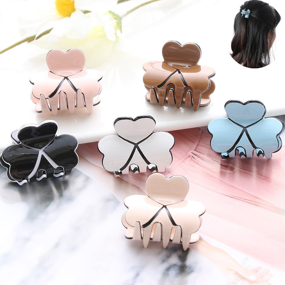 1 Pc New Fashion Hair Claw Clip Women Elegant Mini Hairpins Simple Colorful Clamp Bun Maker Hair Accessories Acrylic Hair Clips Meticulous Dyeing Processes