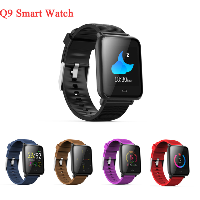 US $33 72 |Q9 Sport Watch Smart Bracelet Waterproof Fitness Tracker Blood  Pressure Pedometer Calories Heart Rate Sleep Monitor Wrist Band-in Smart