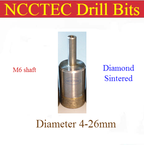 16mm 0.62'' diamond Sintered drill bits NSCD16M6 FREE shipping | WET glass hole saw cutter/1 pcs can drill thousands of holes free shipping bosi upgrade high quality diamond glass cutter china top ten brand